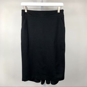 FOREVER Black Pencil Skirt with Cute Back